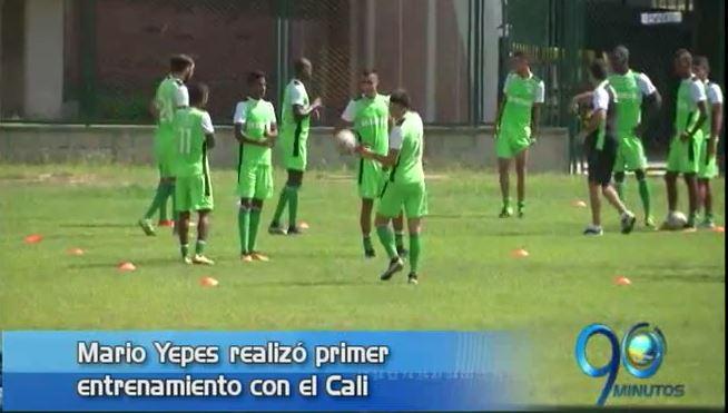 Yepes realizó primer entrenamiento del Deportivo Cali