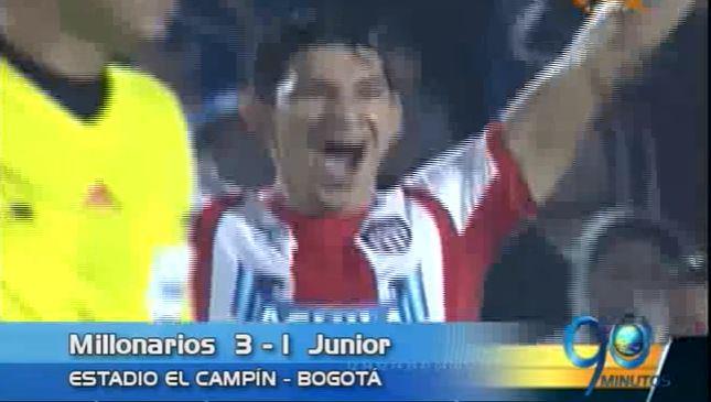 Millonarios venció a Junior y asumió el liderato de la Liga Águila