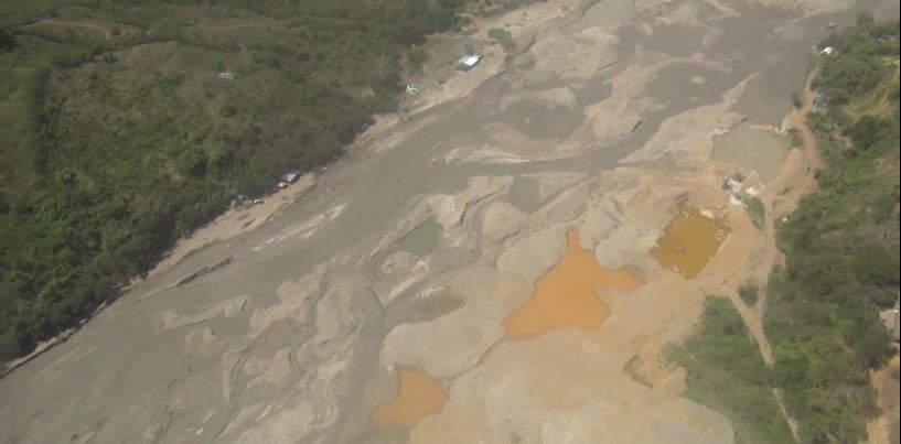 Contundente golpe a la minería ilegal en municipio de Mercaderes, Cauca
