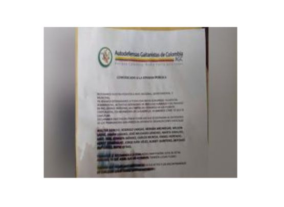 Amenazan integrantes del Comité de Presos Políticos en el Valle