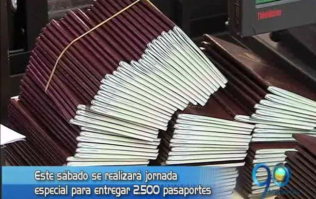 El próximo sábado habrá jornada especial de entrega de pasaportes