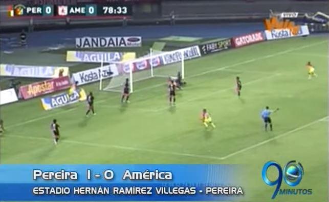 América perdió con el Pereira y ya acumula 11 años sin ganarle en su casa