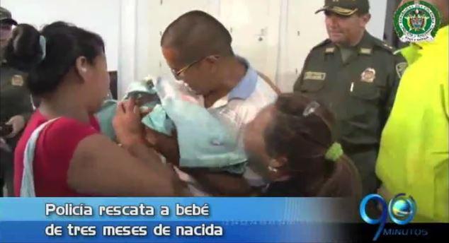 Policía rescata una bebé de 3 meses de nacida que fue secuestrada