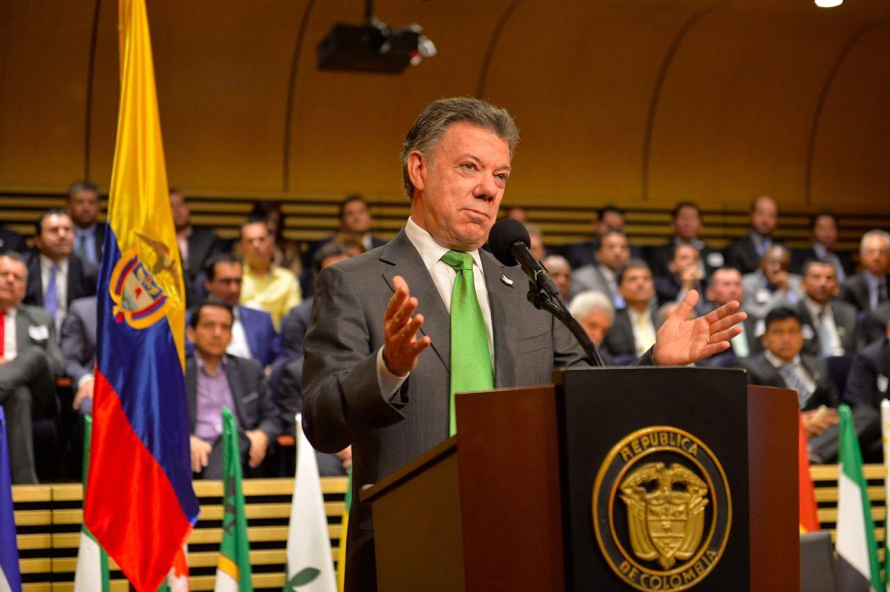 """Santos dice a la Onu que """"es hora de replantear"""" las políticas sobre drogas"""