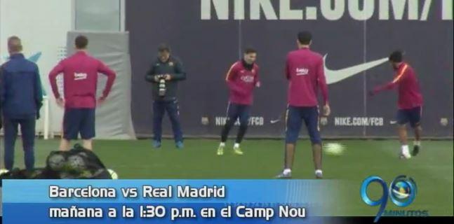 Mañana se juega el clásico español Barcelona vs Real Madrid