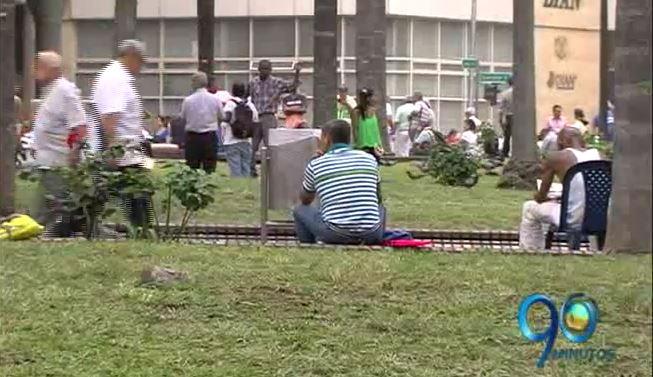 Autoridades realizaron obras de recuperación en la Plaza de Caycedo