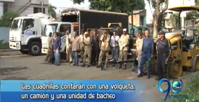 Alcaldía entregó primera cuadrilla de recuperación vial en la comuna 6