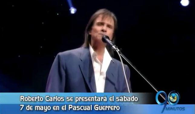 Roberto Carlos le cantará a las madres caleñas el 7 de mayo