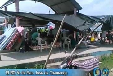 El 80% de San José de Chamanga está bajo los escombros