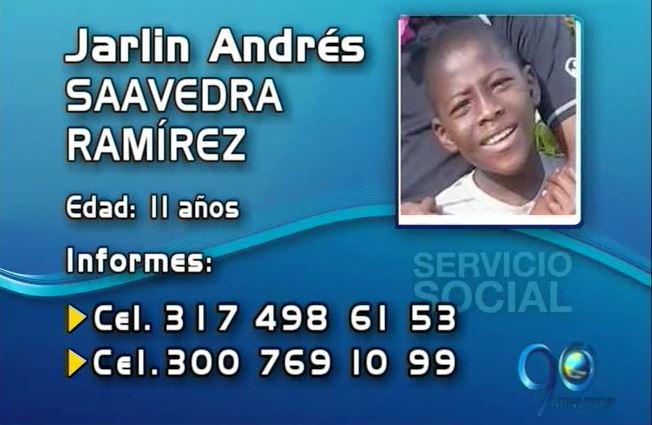 Niño de 11 años desapareció el pasado 13 de abril en Cali