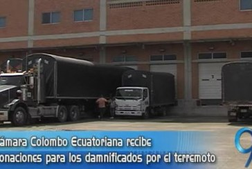 Cámara Colombo Ecuatoriana recibe donaciones para los damnificados