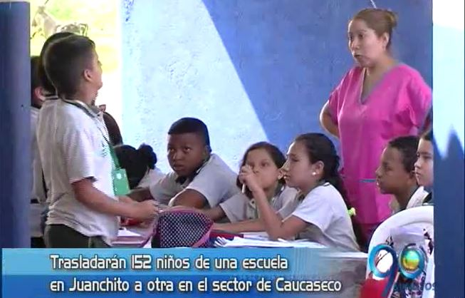 Estudiantes de una escuela en Juanchito rechazan traslado de su institución