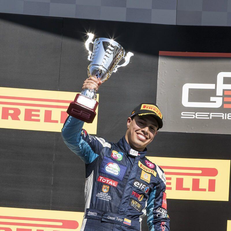 El caleño Tunjo quedó segundo en la carrera de la GP3 de España