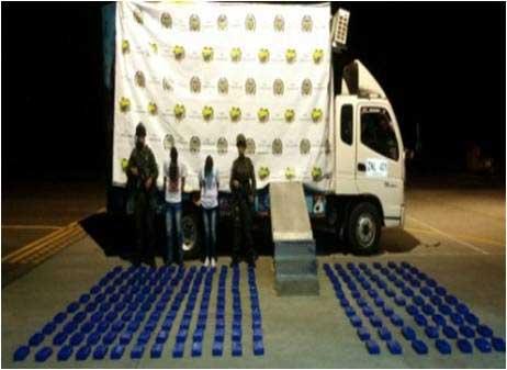 210 kilos de cocaína fueron incautados por la policía en Tuluá