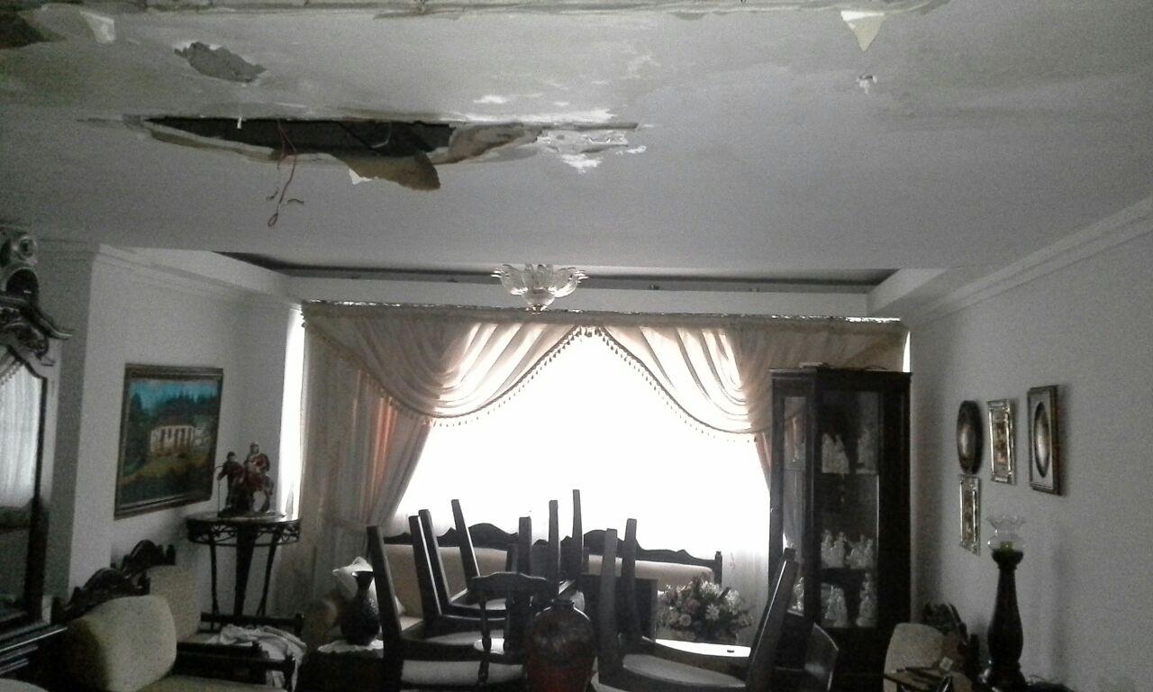 Caída de techos en residencias y una clínica tras fuertes lluvias