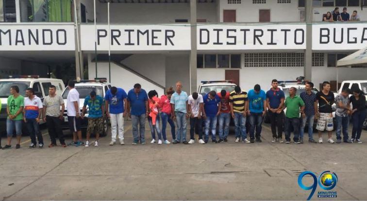 """Capturados 24 presuntos miembros del """"Clan del Golfo"""" en el Valle"""