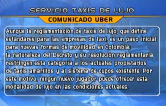 Polémica por decreto que regula el servicio de taxis de lujo