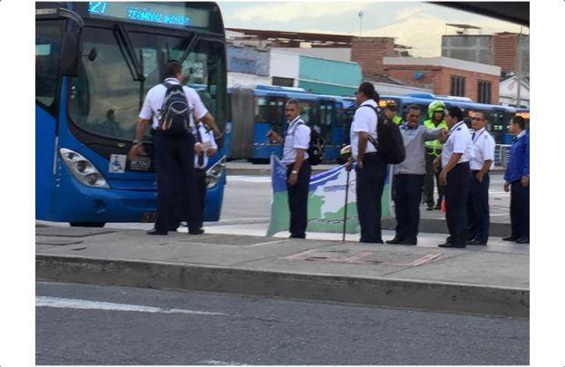 90 conductores de Unimetro volvieron a tomarse las calles de la ciudad