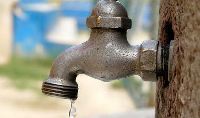 Siete barrios se quedarán sin agua durante jueves y viernes