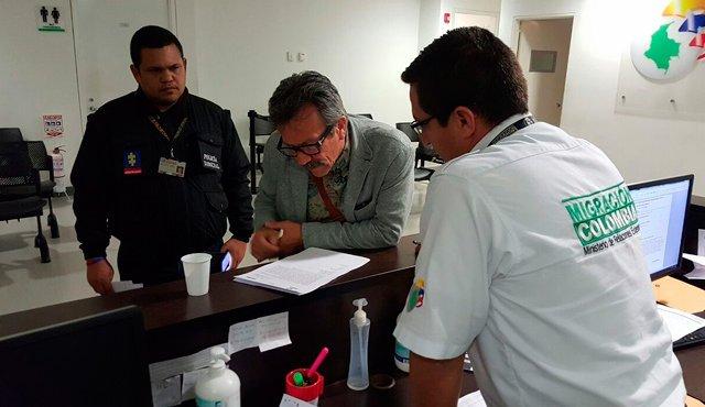 Alias Felipe Torres fue detenido en Bogotá cuando llegaba de España