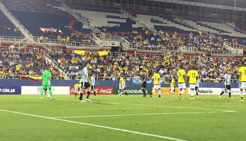 Colombia y Argentina empataron en juego amistoso en Miami