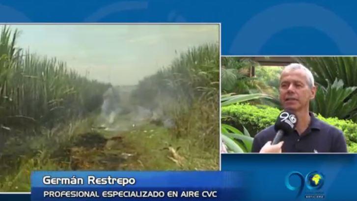 CVC identificó responsables de la quema indebida de cañaduzales en Cali