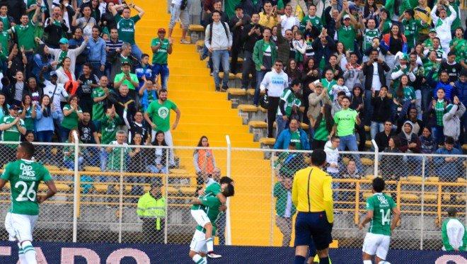 Deportivo Cali venció 2-0 a Fortaleza en Bogotá y es líder de la Liga