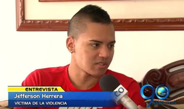"""""""Fui indisciplinado, pero no fue por eso que me dispararon"""", Jefferson Herrera"""