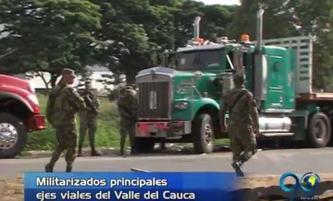 Santos ordenó la militarización de las vías debido al Paro Camionero