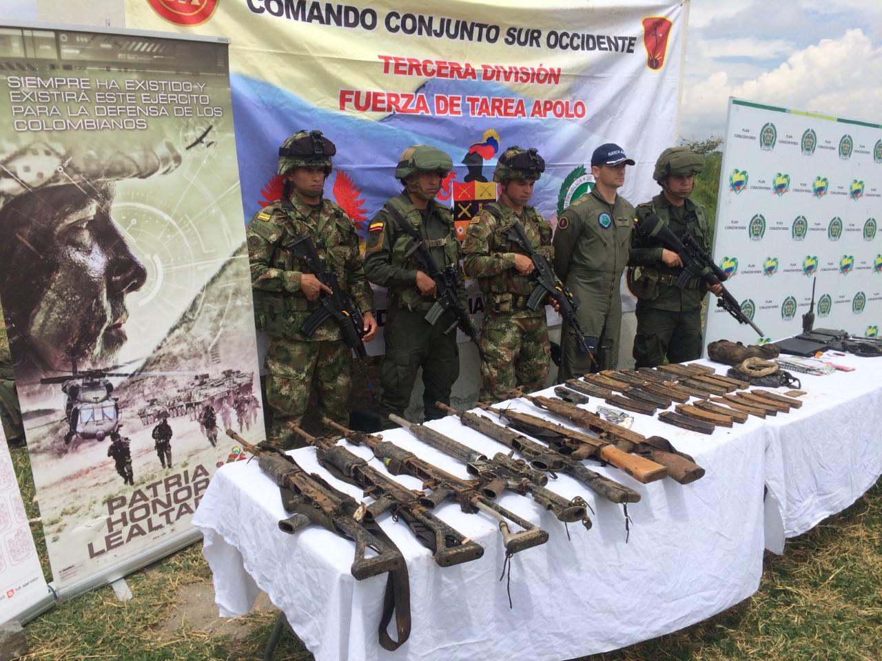 Ejército Nacional neutralizó a cuatro guerrilleros en el municipio Timbiquí, Cauca