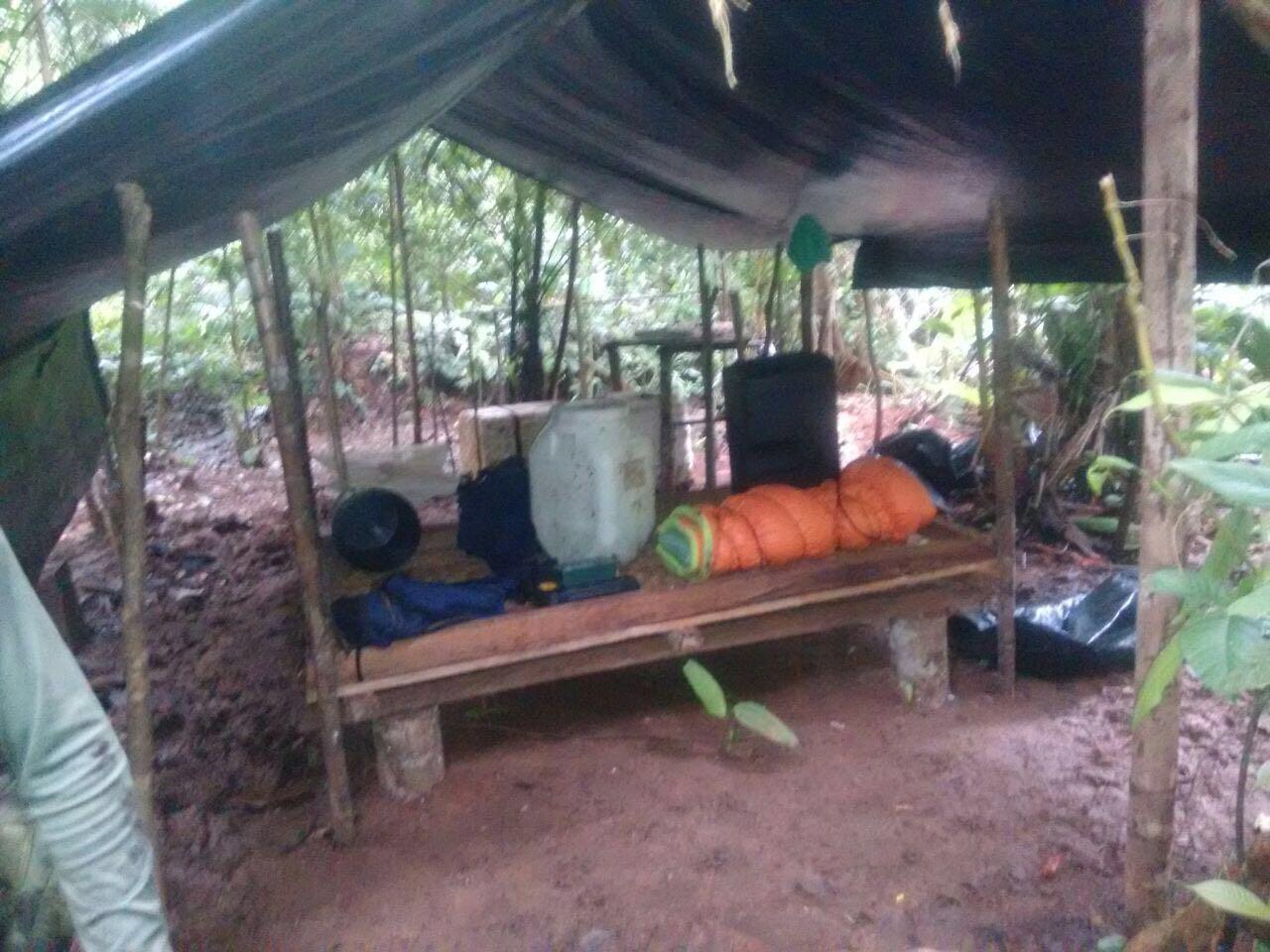Se destruye zona campamentaria del ELN en el Chocó