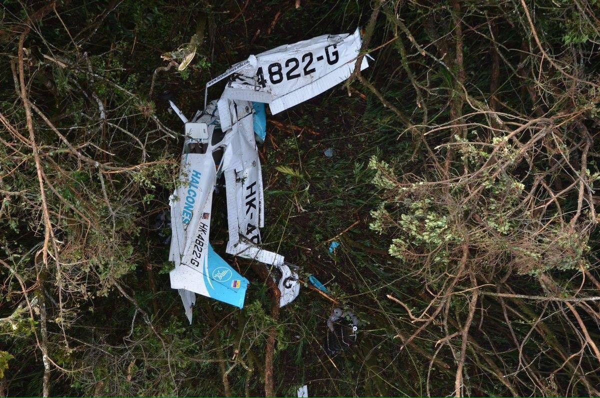 Encuentran siniestrada avioneta que partió desde Cartago a Medellín