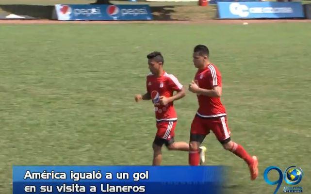 América logró un empate en su visita a Llaneros por el Torneo Águila