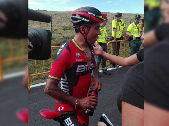 El nariñense Darwin Atapuma nuevo líder de la Vuelta a España