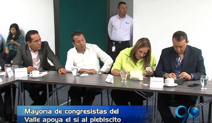Parlamentarios del Valle dan un espaldarazo al plebiscito y al proceso de paz