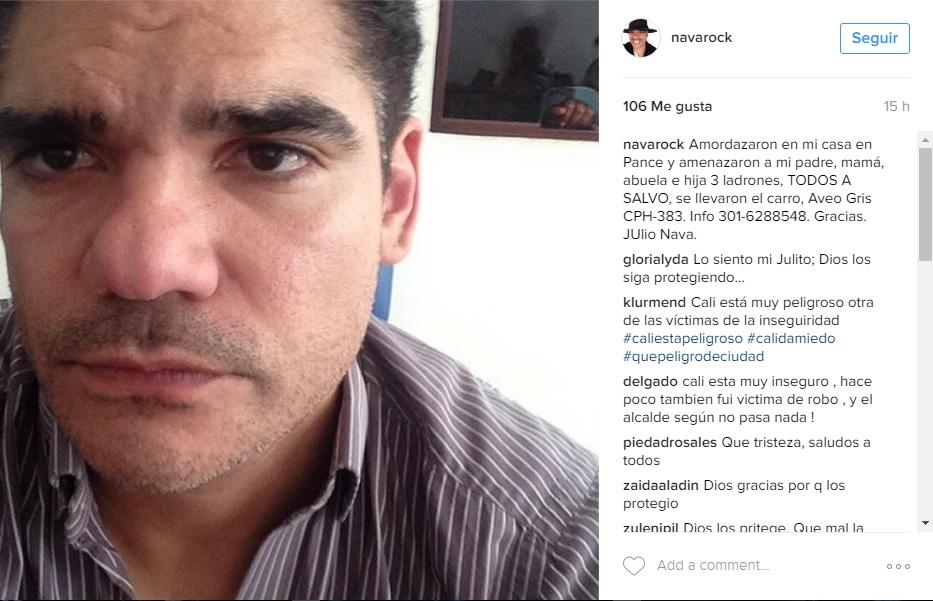 Banda delincuencial asalta la casa del músico Julio Nava