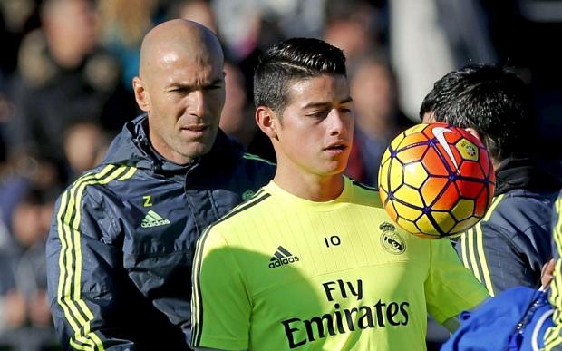 Zinedine Zidane volvió a respaldar a James Rodríguez en el Real Madrid