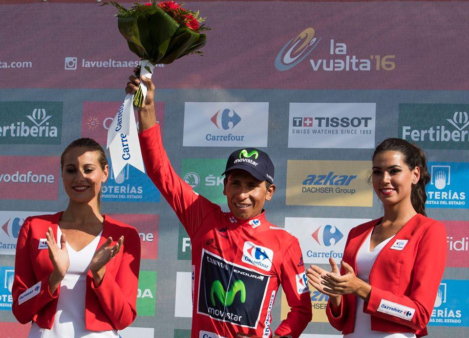 Nairo ganó los Lagos de Covadonga y recuperó la maillot roja