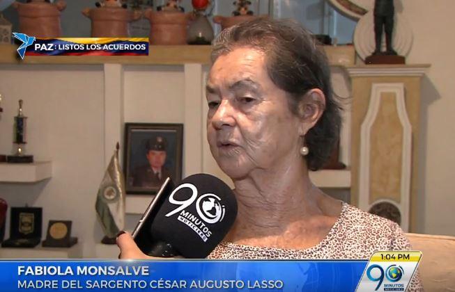 Madre de policía secuestrado por las Farc reaccionó ante acuerdo final de La Habana