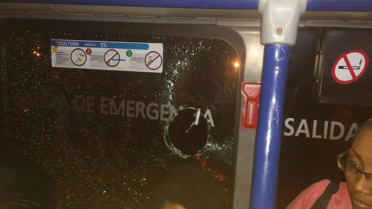 Bus del Mío, atacado a piedra en Vallegrande. Autoridades preocupadas