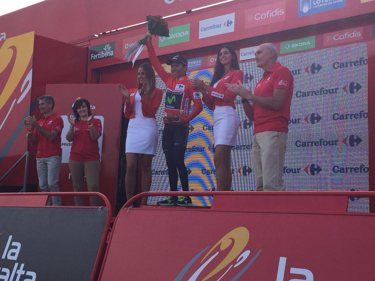 Nairo finalizó segundo en la etapa 11 de la Vuelta España y sigue líder