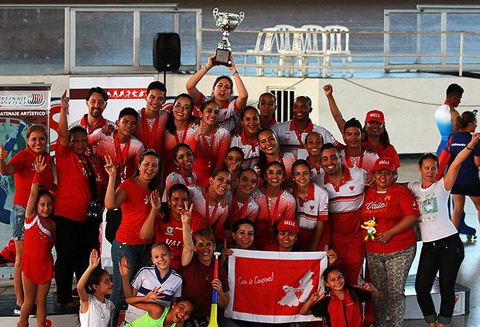 Por primera vez Selección Valle de Patinaje Artístico es campeona nacional