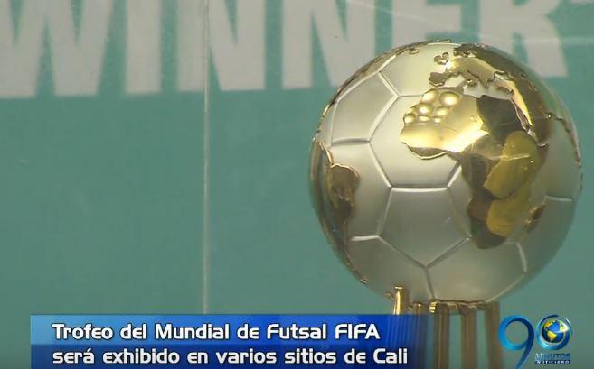 Llegó a Cali el trofeo del Mundial de Futsal que se celebrará en septiembre
