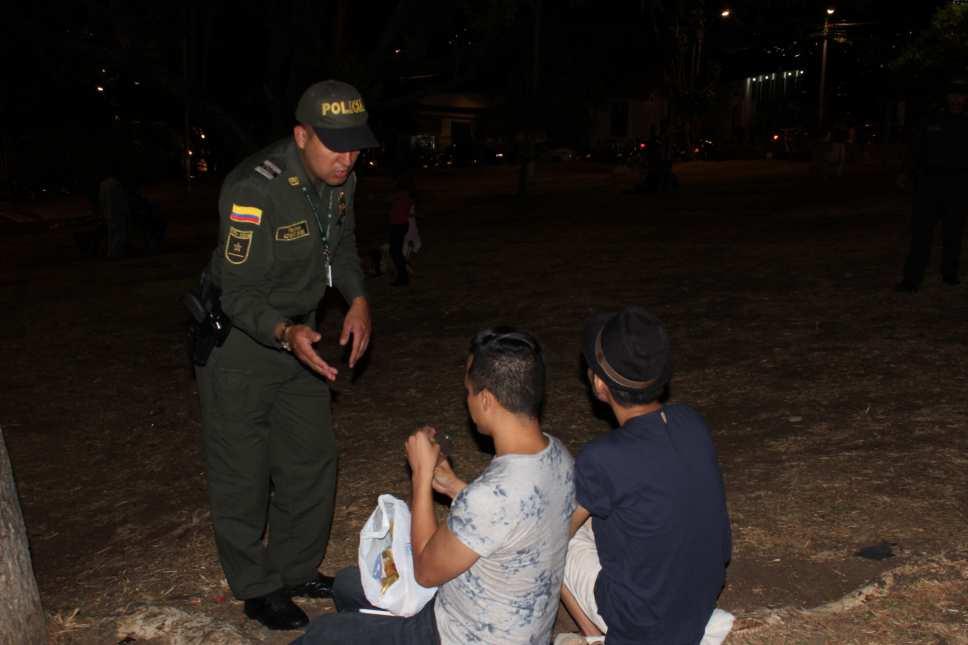 Tres capturados deja intervención policial en San Antonio