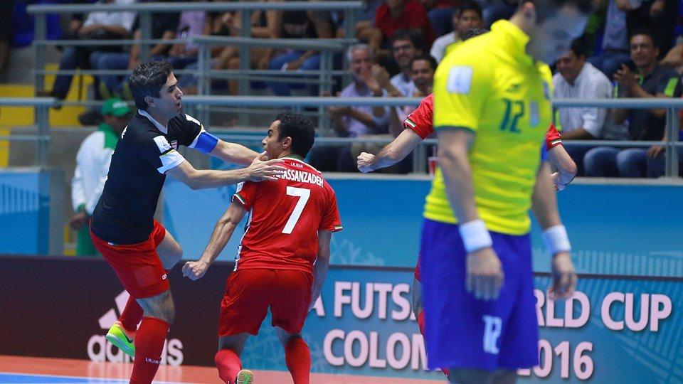 Irán deja en el camino al pentacampeón Brasil en el Mundial de Fútsal