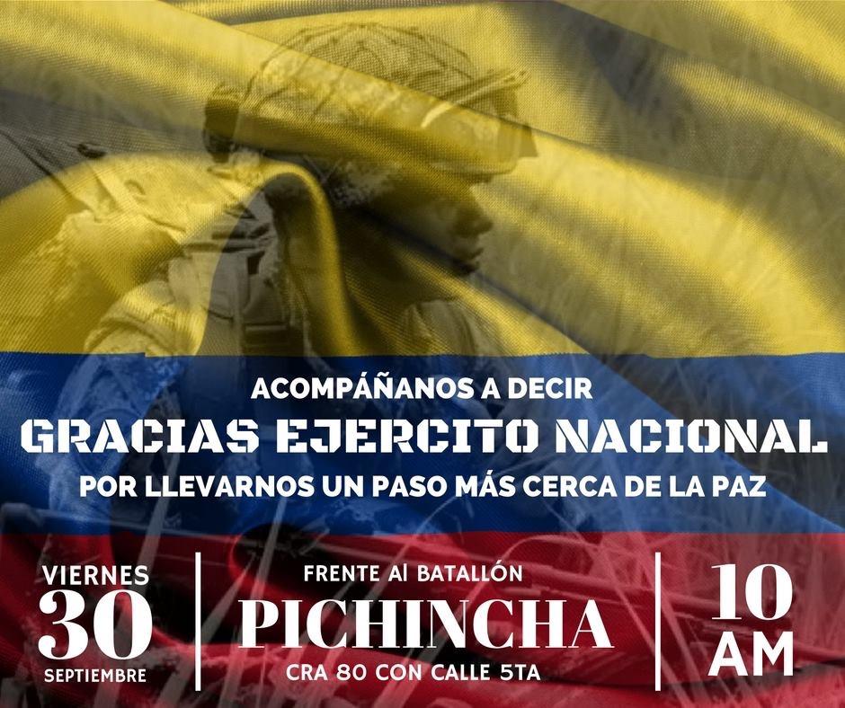 Colombia le rinde homenaje a los héroes del Ejército Nacional