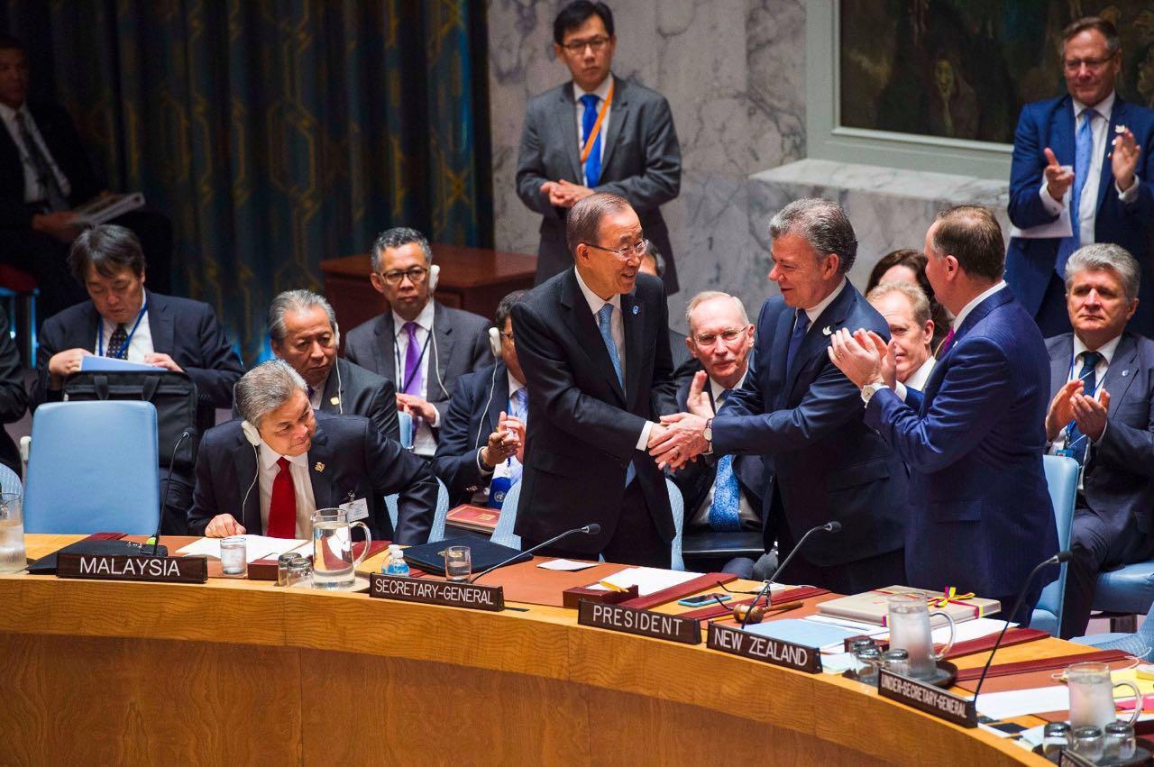 """Juan Manuel Santos: """"Colombia trae un mensaje de paz a la ONU"""""""