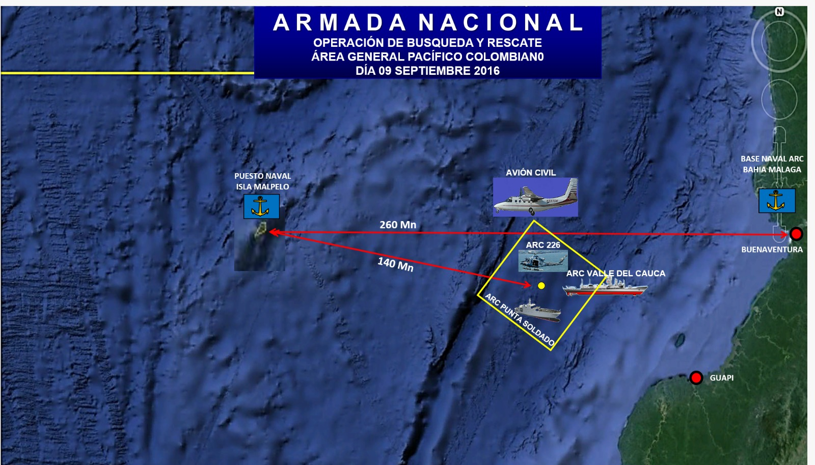 Armada Nacional halla cadaver en zona donde buscan buzos desaparecidos