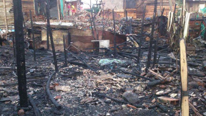 Incendio consumió 4 viviendas en el barrio Las Orquídeas