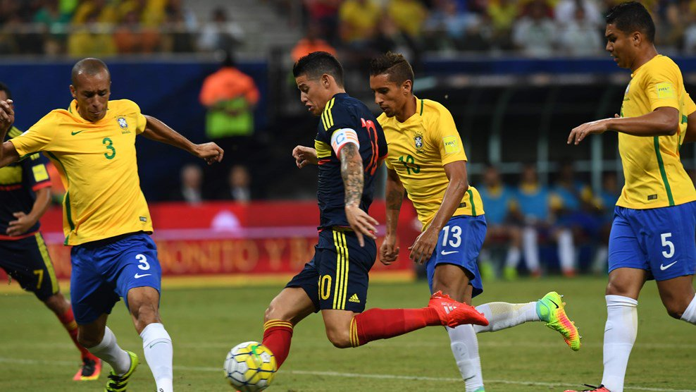 Brasil, con el sello de Neymar, vence a Colombia y se acerca al liderato